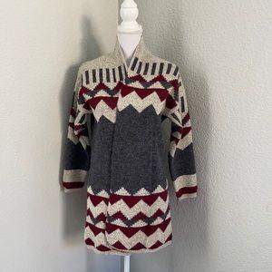 Debut Open Front Aztec Print Cardigan Size S